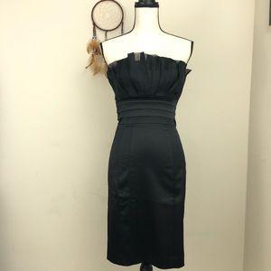 Bebe Dress Black Strapless Cocktail  size S
